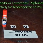 Capital or lowercase? – Alphabet Activity for Kindergarten or Preschool