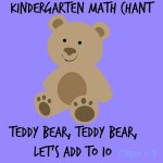 Teddy Bear, Teddy Bear, Let's Add to Ten-Kinder and Pre-K Math activity