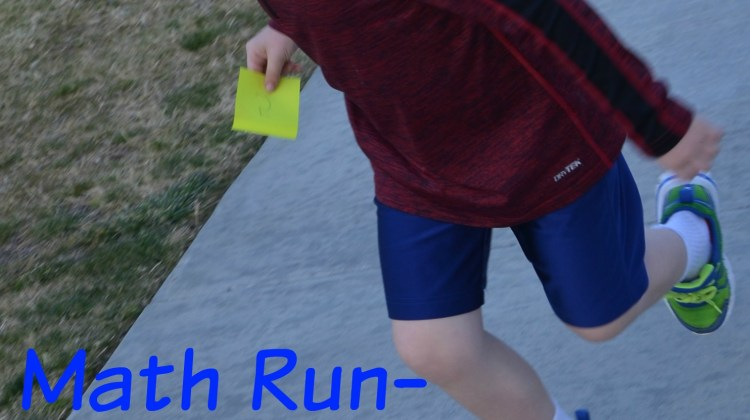 Math Run-Makes Math Fun While Kids Run!