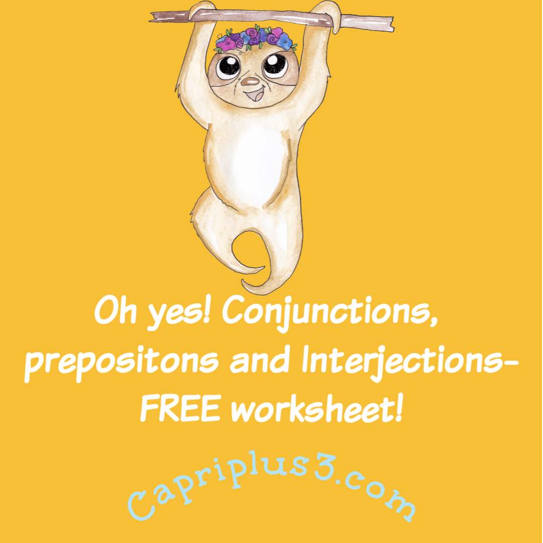 Oh Yes Conjunctions Prepositions Amp Interjections Free