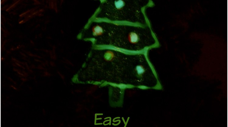 Easy Glow in the Dark  Christmas Tree Ornaments Kids Can Make
