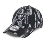 Las Vegas Raiders Black Script 9FORTY Cap