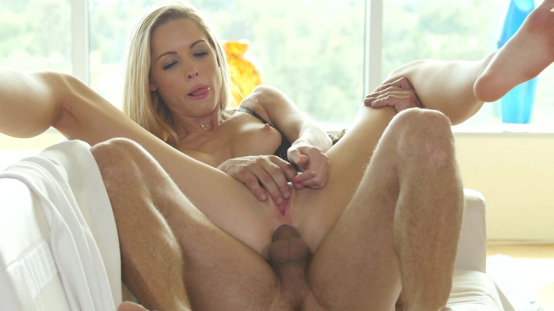 Blonde Babe Takes the Big Hard Dick of Mr. Pete Inside Her Tight Asshole