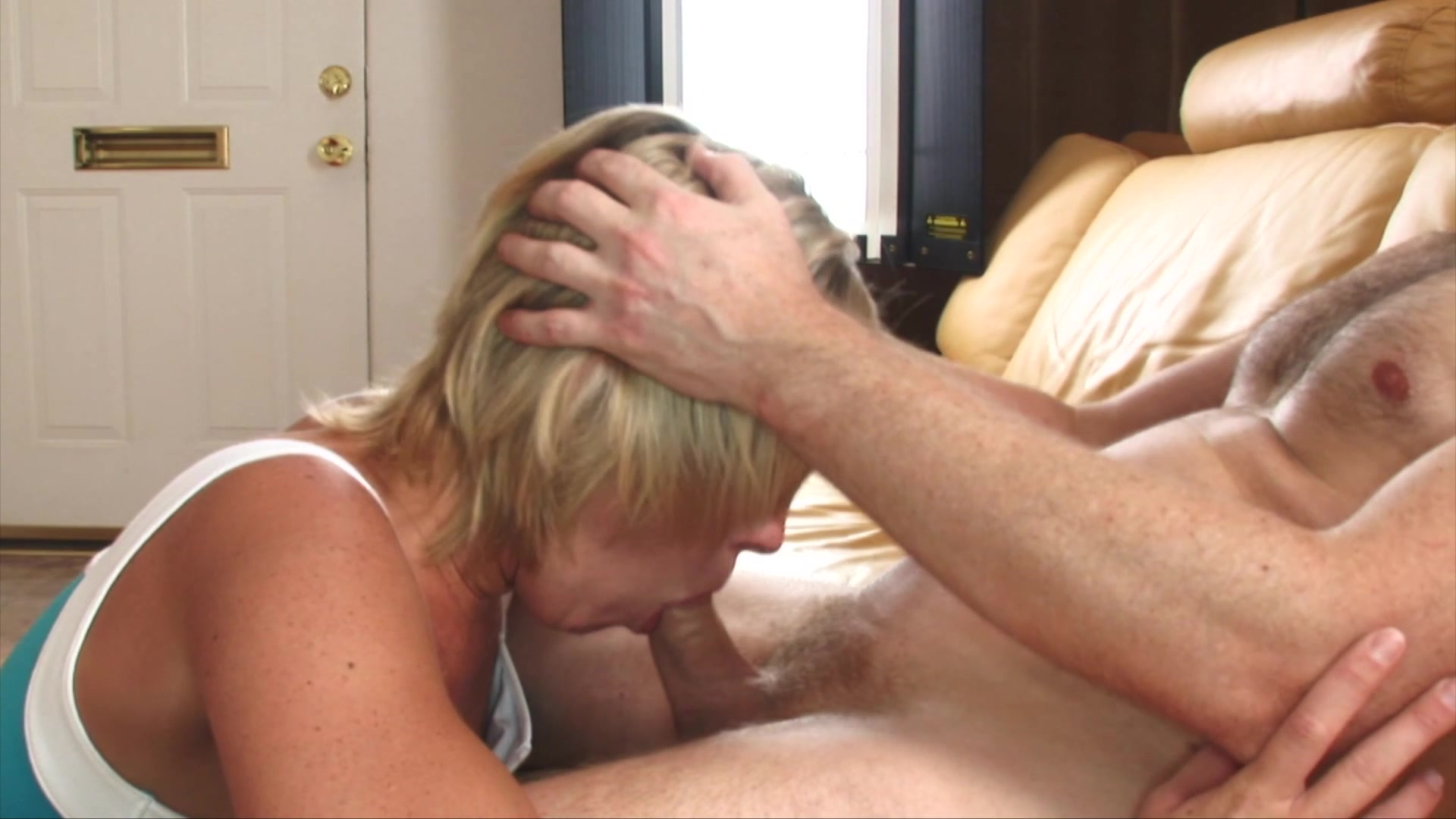 Pretty Blonde Takes a Big Cock in Her Pussy and Mouth