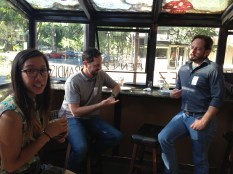 CapSciComm members strike a pose at the June 20th networking social.
