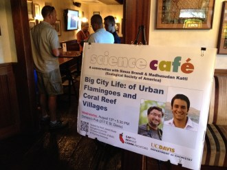 Wednesday night's Davis Science Café saw a full house, making Professor Shaw wonder if we need a bigger space...