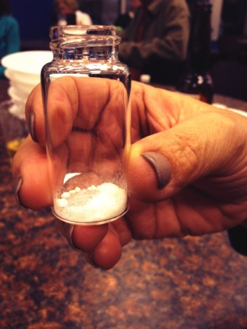 Science Night Live participants came face to face with vanilla, in both plant and chemical form.