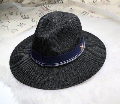 New Maison Michel Straw Hats Wide Brim M Letter Summer Hat Women Chapeu Jazz Trilby Bowler Summer Hats For Women 16