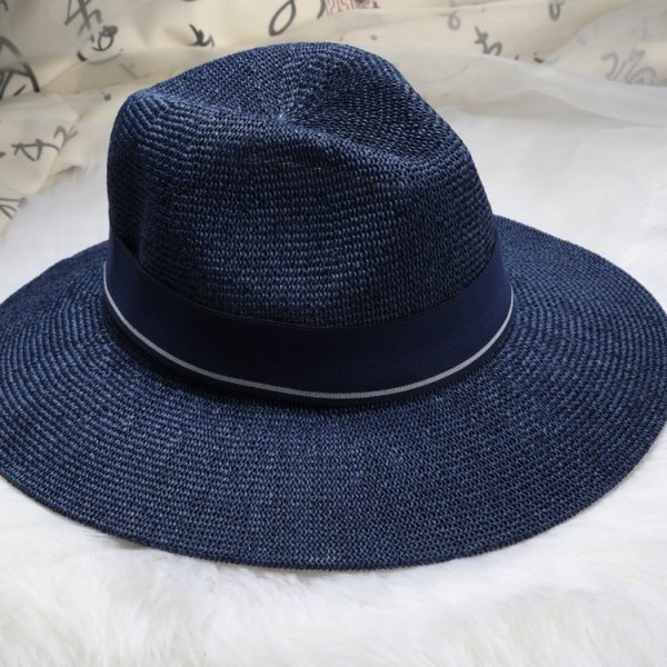 New Maison Michel Straw Hats Wide Brim M Letter Summer Hat Women Chapeu Jazz Trilby Bowler Summer Hats For Women 8