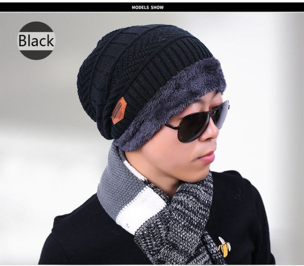 new knitted hat fashion Beanies Knit Men's Winter Hat Caps Skullies Bonnet  For Men Women Beanie Casual Warm Baggy Bouncy 11