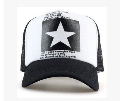 New Five-pointed Big Star Pattern Mesh Baseball cap 3