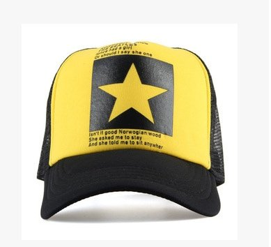 New Five-pointed Big Star Pattern Mesh Baseball cap 4