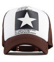 New Five-pointed Big Star Pattern Mesh Baseball cap 9