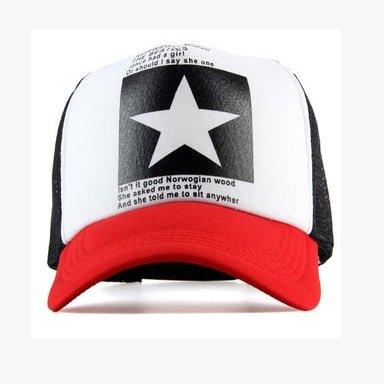 New Five-pointed Big Star Pattern Mesh Baseball cap 1