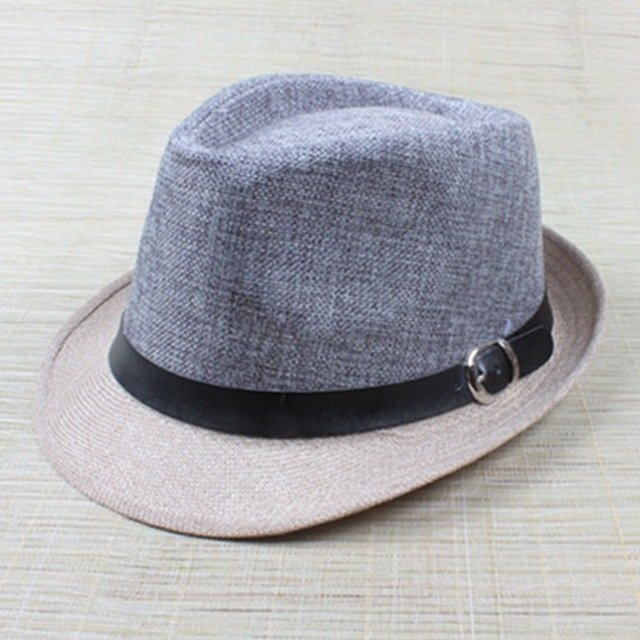 Hot Unisex Hat Women Hat Men Gangster Summer Beach Cap Hard Felt Fedora  Trilby Panama Jazz Gangster Hats 6f369d69cf34