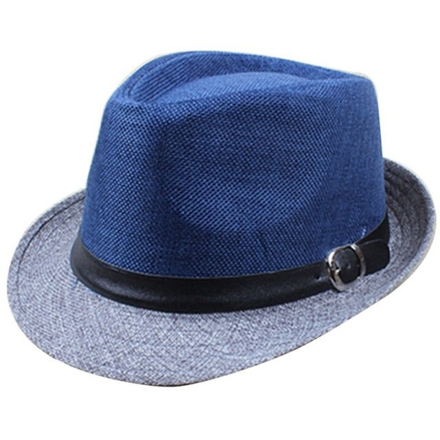 e498322b4b083 Hot Unisex Hat Women Hat Men Gangster Summer Beach Cap Hard Felt · Autumn  Black Faux Leather Fedora ...