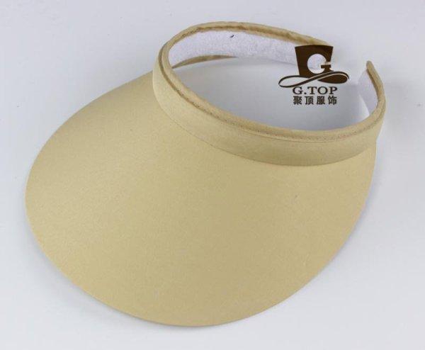 Unisex  Clip-On Visor sun Hat Summer Cotton topless sports golf cap 2
