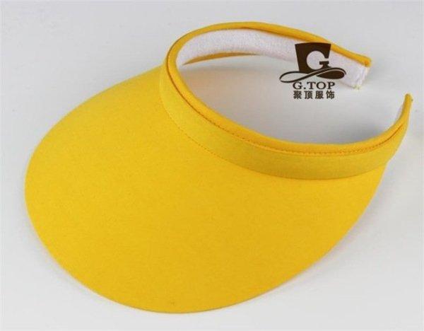 Unisex  Clip-On Visor sun Hat Summer Cotton topless sports golf cap 10
