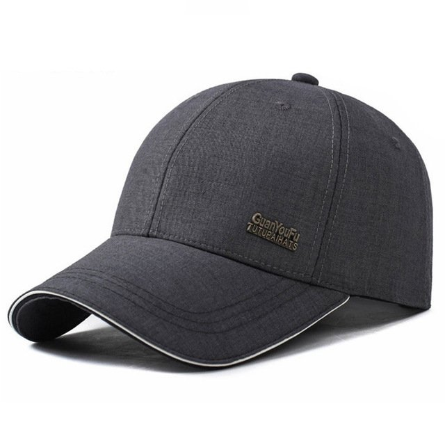 31288e658ab 2017 Mens Spring Adjustable Cotton Fitted Baseball Caps Male Simple ...