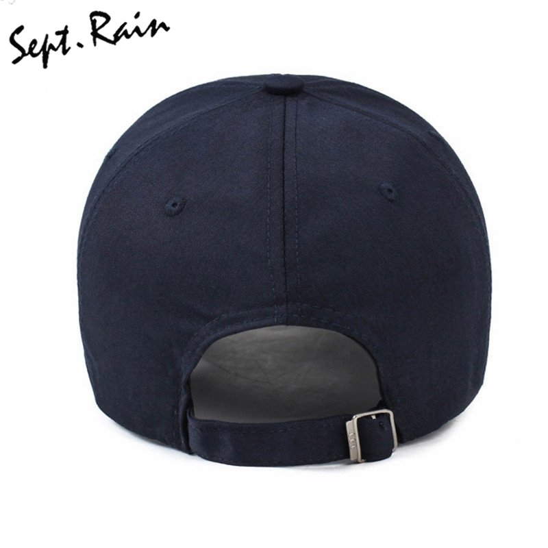 1669e3f5538 2017 Mens Spring Adjustable Cotton Fitted Baseball Caps Male Simple Black  Formal Snapback Dad Hat Fashion Breathable ...