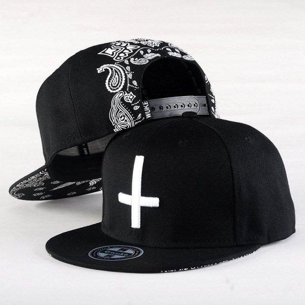 New Brand Street Dance Cool Hip Hop Caps Embroidery Cross Snapback Snap Back Baseball Caps Hats Bone Hat Free Shipping 2