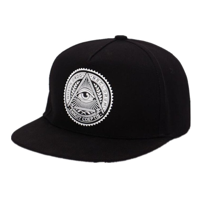 a60594d342f 2018 Fashion Round Label Triangle Eye Illuminati Snapback Caps Women ...