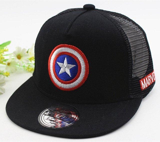 2018 New Kids Baseball Caps Fashion Superman Batman Children Snapback Caps  Gorras Planas Boys Hip Hop Hat Mesh Summer Hats 2318 cb14f8996df1
