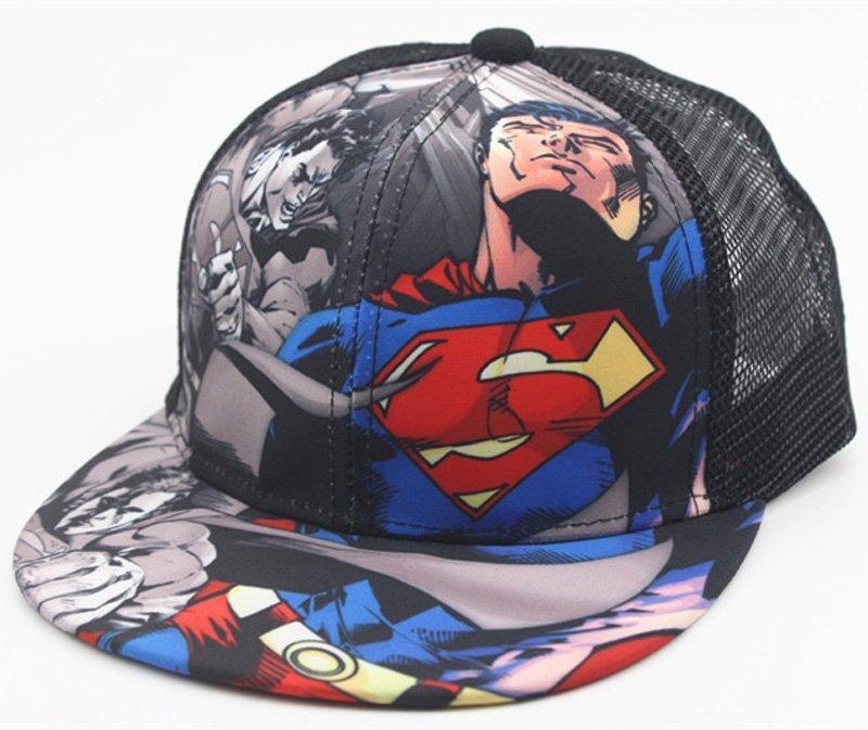 2018 New Kids Baseball Caps Fashion Superman Batman Children Snapback ... 3138c4aa84f2