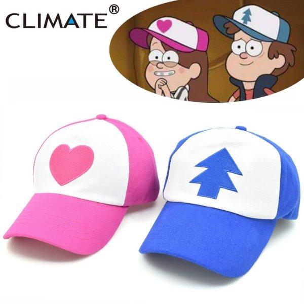 New Spring Summer Gravity Falls U.S Cartoon Mabel Dipper Pines Cosplay Cool Baseball Mesh Caps Adjustable Sport Hat 2