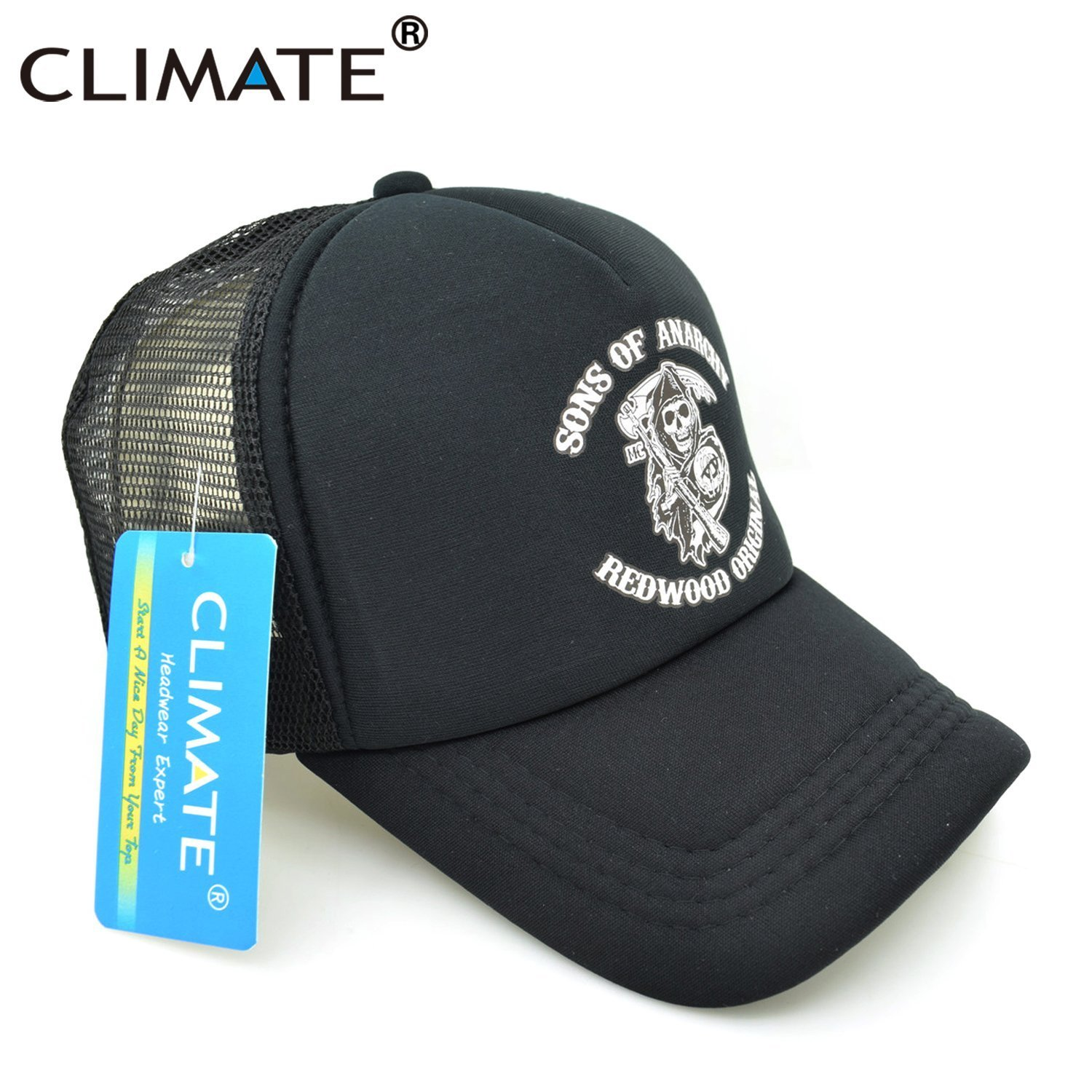 CLIMATE Men Cool Trucker Cap Sons of Anarchy Redwood Death Cool Mesh ... dc8ef8cddd1