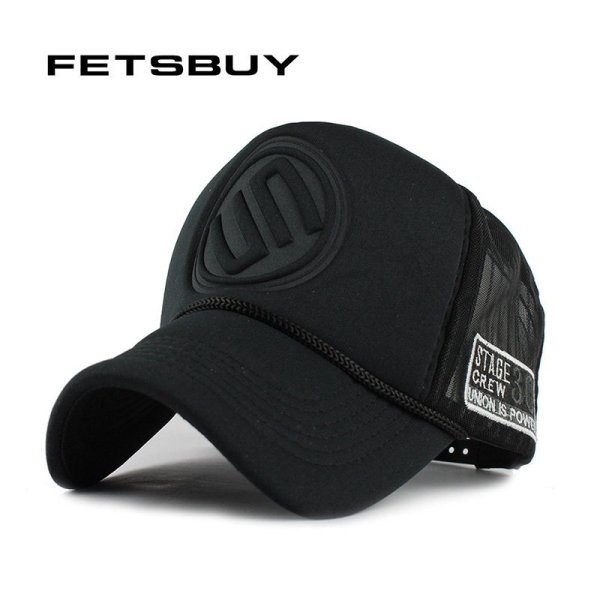 FETSBUY Summer Male And Female Trucker Hats Fitted Casual Hip-hop Street Mesh Hat Casquette Cap Unisex Print Baseball Caps 1