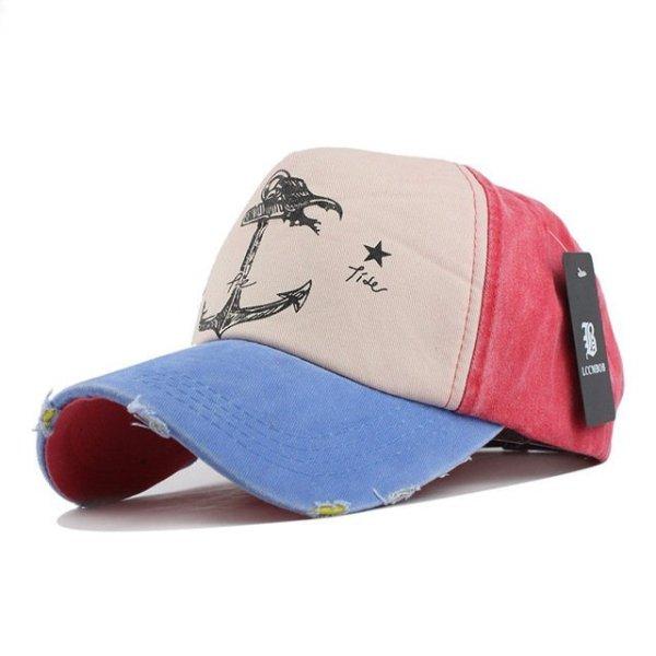 [FLB] 5 panel hip hop snapback hats couples hat Man Woman pure cotton baseball caps do old pirate ship anchor gorras wash cap 11