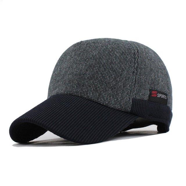 cccc79edb72  FLB  Warm Winter Thickened Baseball Cap Men S Cotton Hat Snapback ...