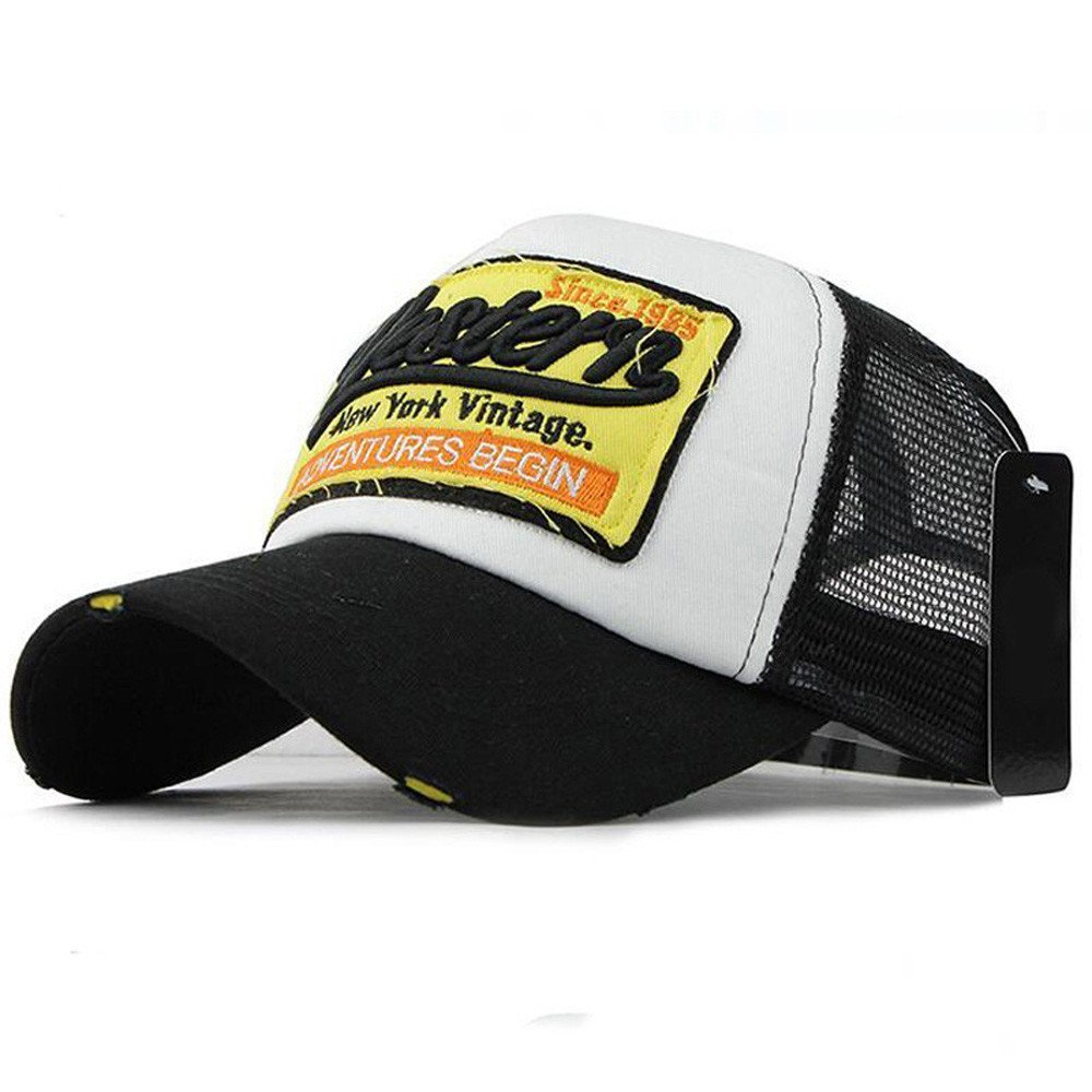 Long Bill Baseball Cap Men Mesh Hats Women Letter Adjustable Adult Sun Hats