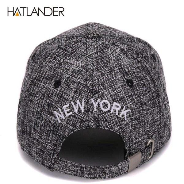 HATLANDER kids cotton linen baseball caps for boys girls outdoor sun hats NY letter adjustable casual children sports cap 8