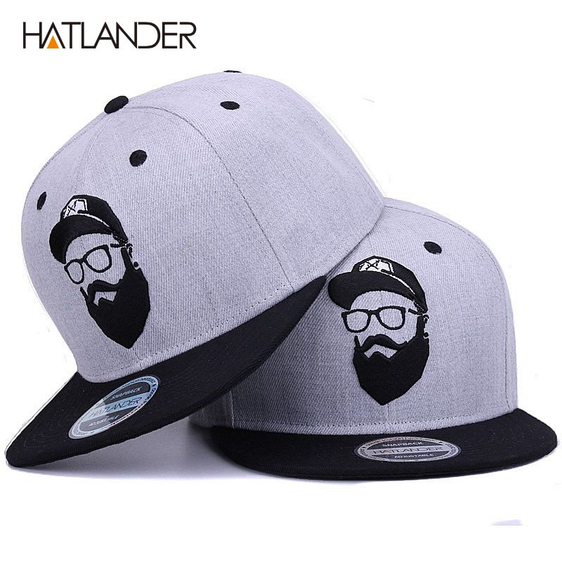 HATLANDER Original grey cool hip hop cap men women hats vintage ... 17bb75adf64