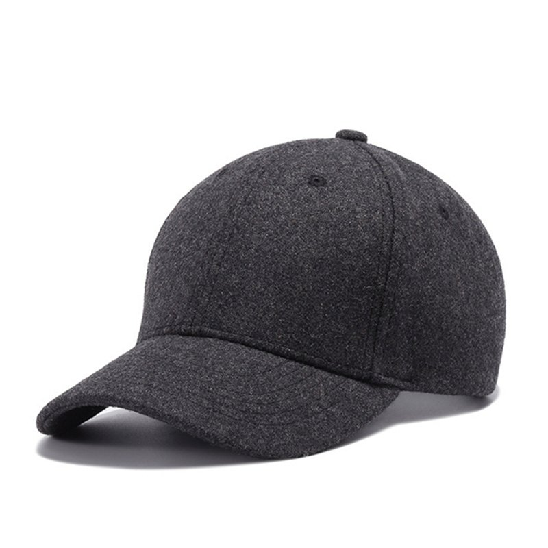 High Quality Solid Winter Baseball Cap Men Bone Trucker Hat Gorras Planas  Snapback ... 589cb82cac2