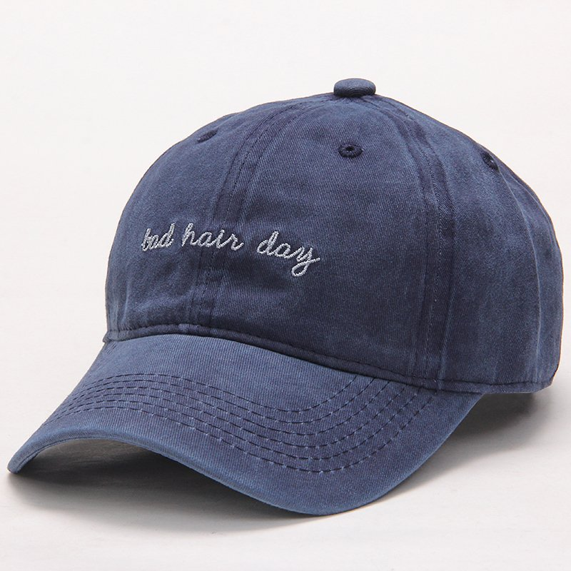 282bae92 High Quality Washed Cotton Bad Hair Day Adjustable Solid Color Baseball Cap  Unisex Couple Cap Fashion Dad HAT Snapback Cap