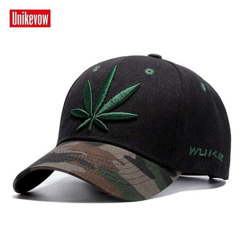 High quality Baseball Cap Unisex Sports leisure hats leaf embroidery ... 012169f8043