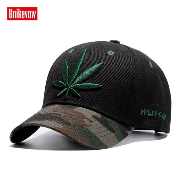 High quality Baseball Cap Unisex Sports leisure hats leaf embroidery sport cap for men and women hip hop hats 18