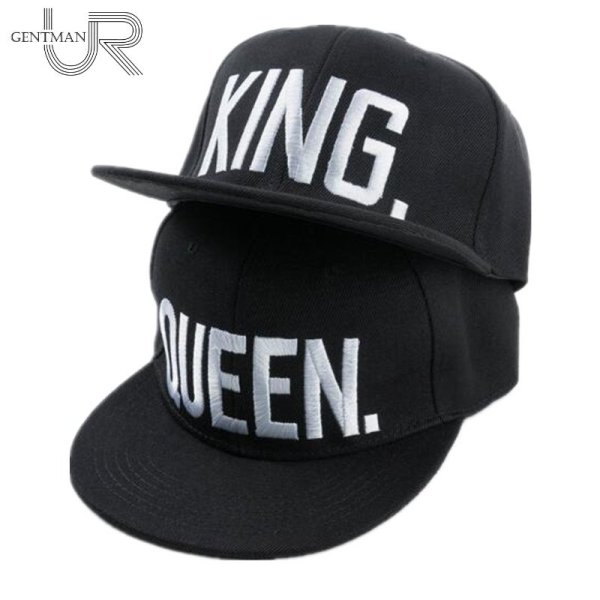 Hot Sale KING QUEEN Embroidery Snapback Hat Acrylic Men Women Couple Baseball Cap Gifts Fashion Hip-hop Caps 2