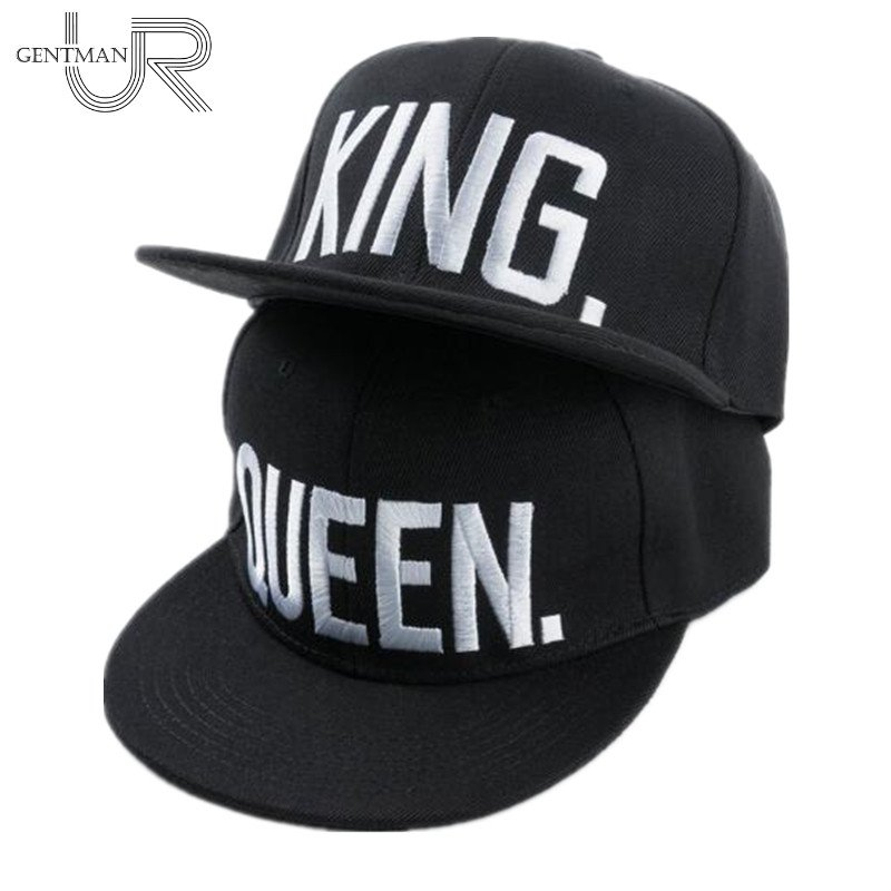 Hot Sale KING QUEEN Embroidery Snapback Hat Acrylic Men Women Couple  Baseball ... e291a83bb05