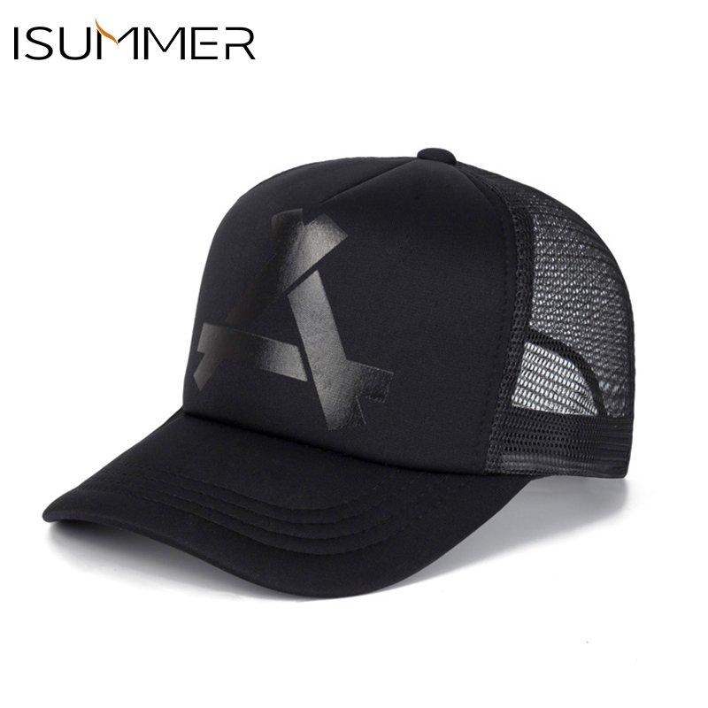 ISUMMER 2018 Summer Baseball Mesh Cap Men Hat Hip Hop Snapback Hat ... 185e372fd82c