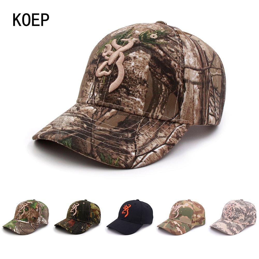 c4a8eda57 KOEP Browning Camo Baseball Cap Fishing Caps Men Outdoor Hunting ...