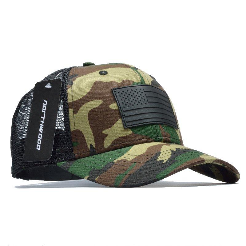 4943825082636 NORTHWOOD] Camo Mesh Baseball Cap Men Camouflage Bone Masculino ...