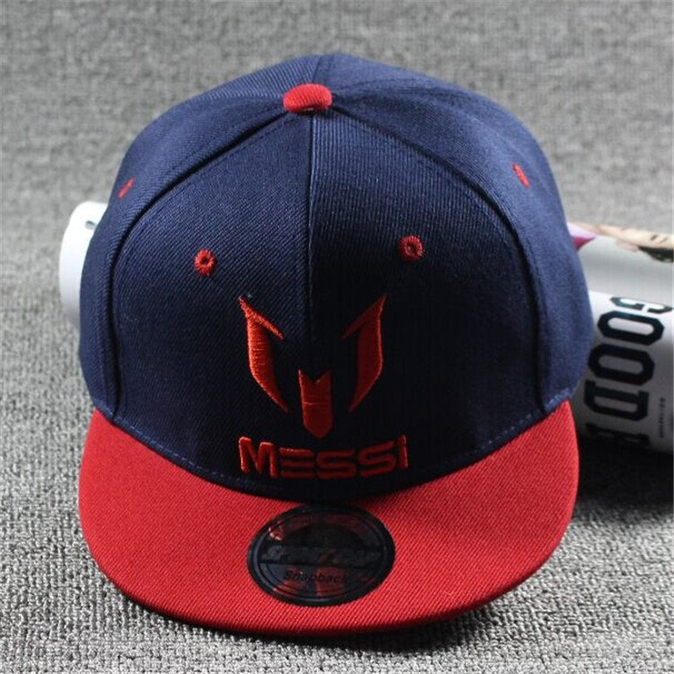 7b46e0e291e New Arrival Kids MESSI Embroidery Cotton Snapback Caps Hip Hop Hats  Boys Girls Children Cartoon Baseball ...