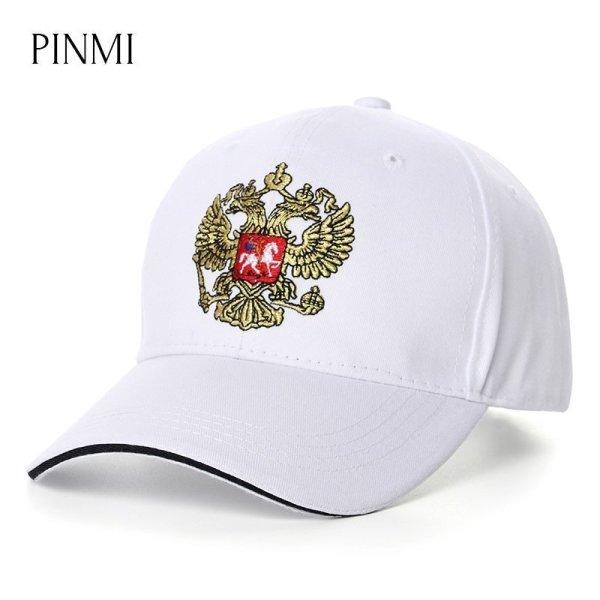 PINMI 2017 White Baseball Cap Men Women 100% Cotton Golden Thread Embroidery Snapback Caps Casual Outdoor Summer Dad Hat for Men 1