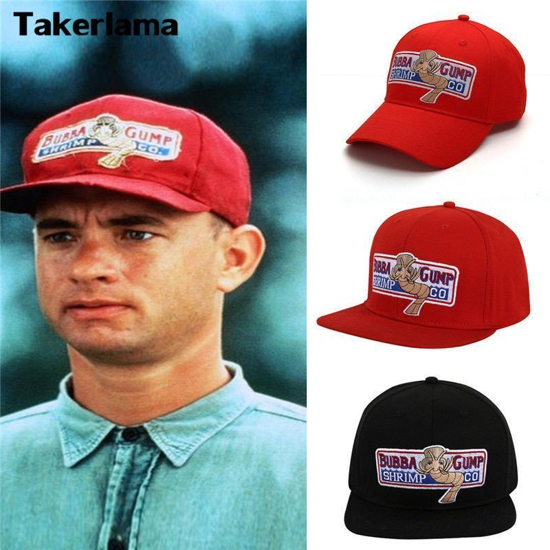 78626cf5 Takerlama 1994 Bubba Gump Shrimp CO. Baseball Hat Forrest Gump Costume  Cosplay Embroidered Snapback Cap Men&Women Summer Cap