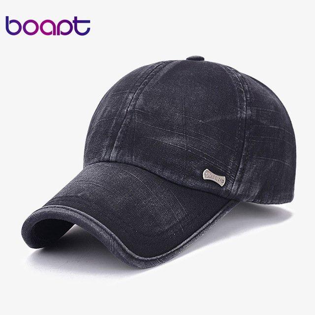 9f1d064de50  boapt  classic fashion metal label cotton men baseball caps summer  snapback cap unisex vintage sun hat man fashion women hats