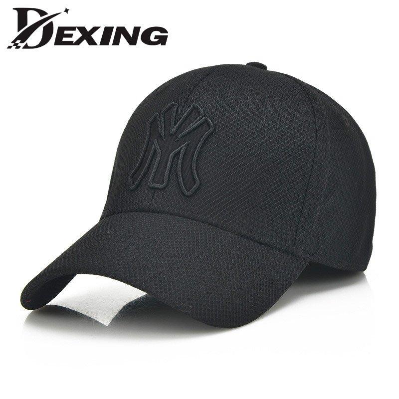f8cc83be702 solid unisex black baseball cap men snapback hat women cap flexfit ...